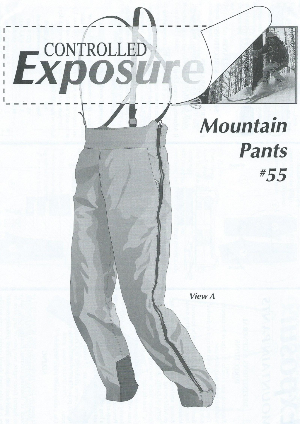 Střih Mountain Pants